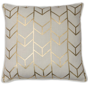 Geometric Chevron Metallic Cushion, , large