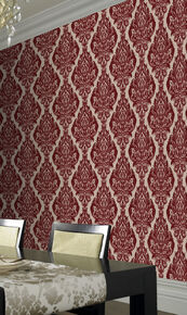 Kinky Vintage Bordeaux Bordello Wallpaper, , large