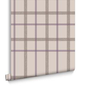 Plaid Thistle Wallpaper, , large