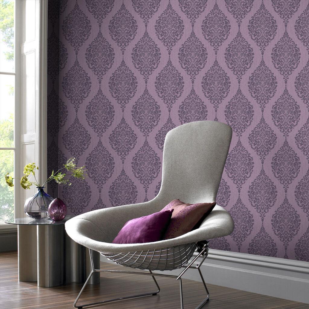 luna plum wallpaper graham brown. Black Bedroom Furniture Sets. Home Design Ideas