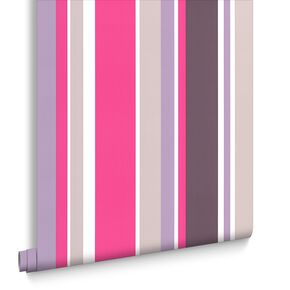 Rico Stripe Hot Pink Wallpaper, , large