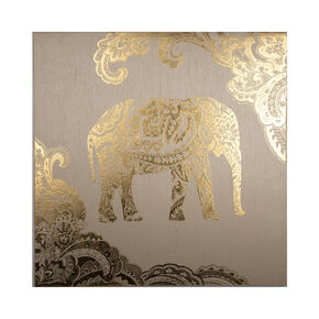Golden Henna Elephant Fabric Canvas, , large