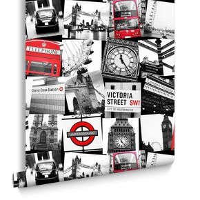 London Montage Black und Red, , large