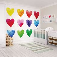 Colour My Heart Wall Mural, , large