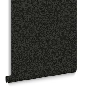 Petit Papillon Black Wallpaper, , large
