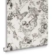 Skull Roses Wallpaper, , large