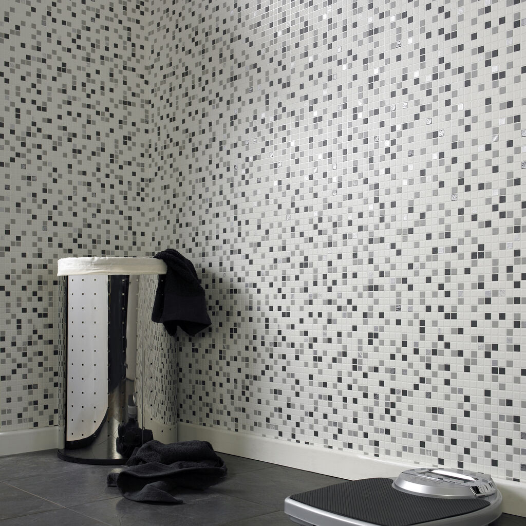 Checkered Black And White Wallpaper GrahamBrownUK