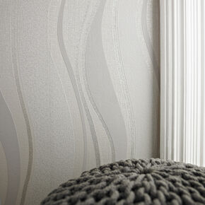 Elan Grey and Silver Wallpaper, , large
