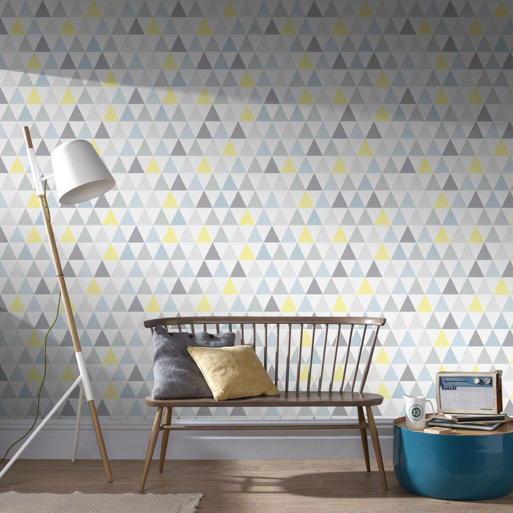 Tarek Jaune Bleu Wallpaper Grahambrownuk