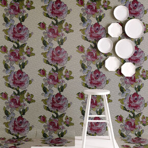 Tapestry Rose Multi Wallpaper, , large