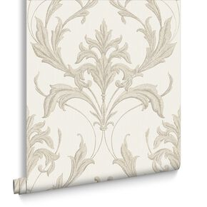 Oxford Pearl & Taupe Behang, , large