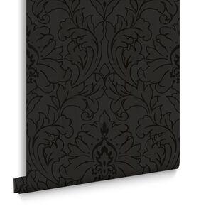 Majestic Black Wallpaper, , large