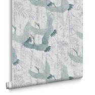 Crane Green Behang, , large