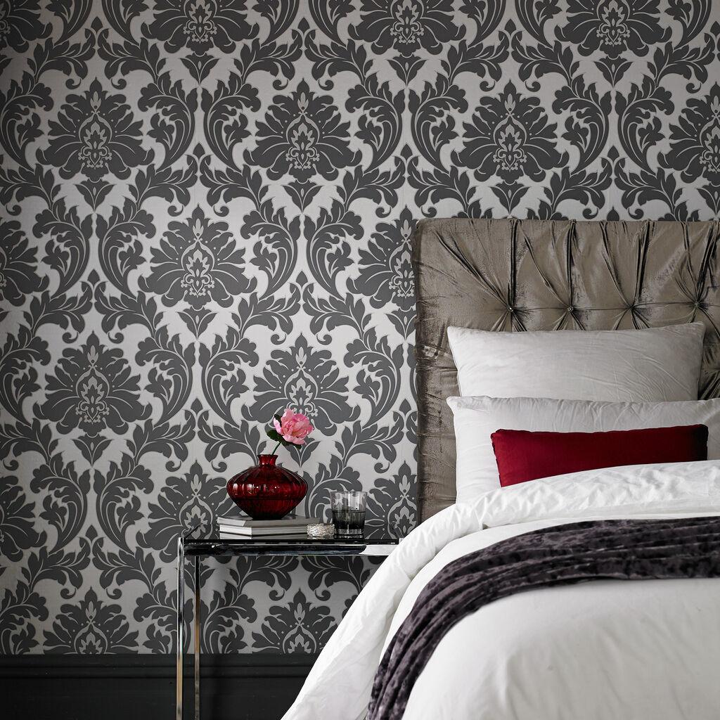 Wallpaper For Couples Bedroom Grey Bedrooms For Girls Plascon Bedroom Paint Ideas Guest Bedroom Design Ideas Pictures: Majestic Grey Wallpaper