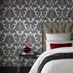 ... large Majestic Grey Wallpaper, ...