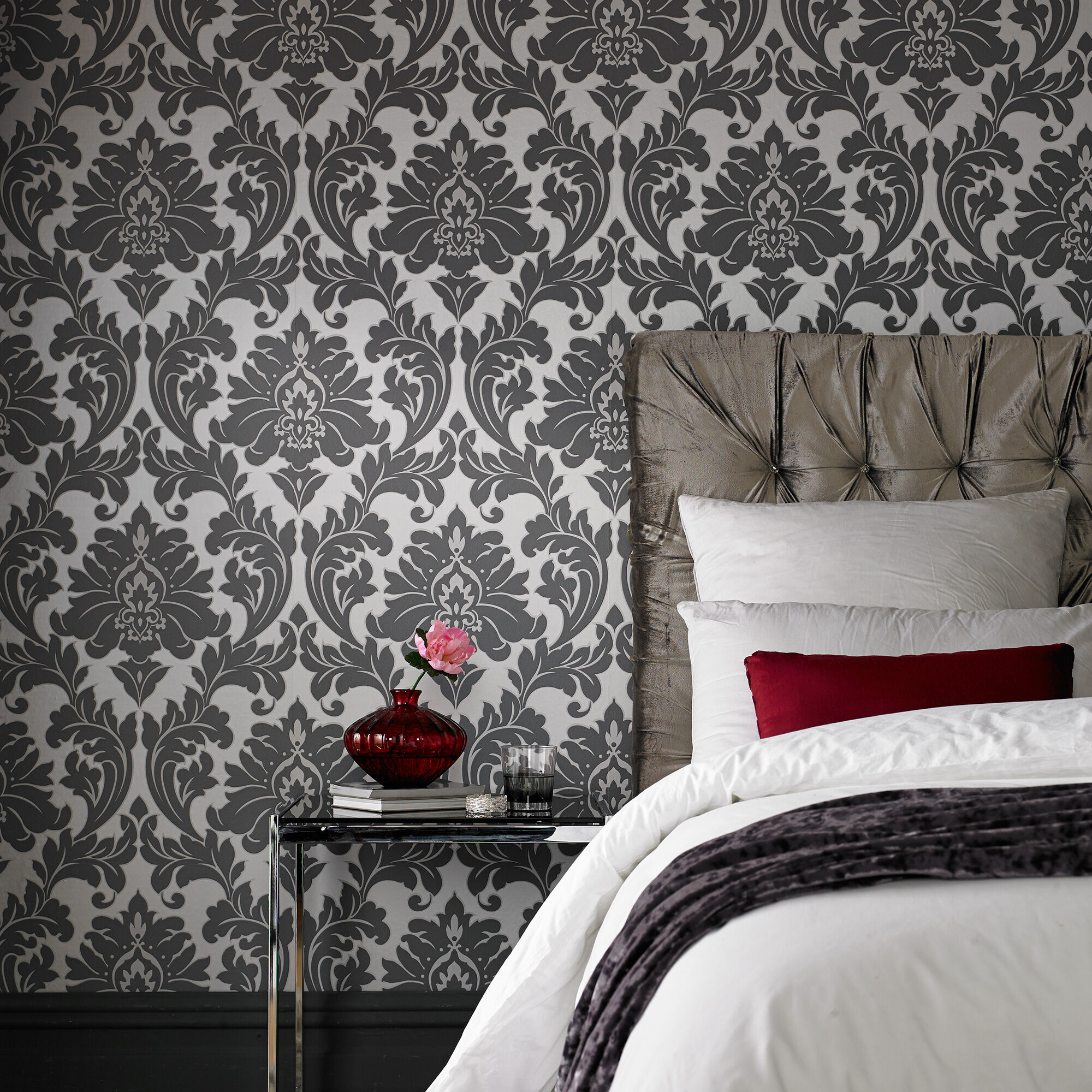 ... Large Majestic Grey Wallpaper, ...