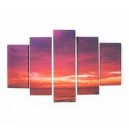 Bedruckte Leinwand Drama Sonnenuntergang, , large