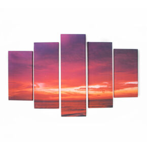 Drama Sunset Printed Canvas, , large