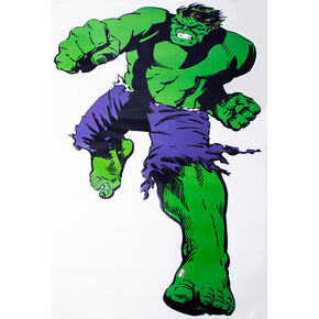 Marvel Sticker mural Comics L'Incroyable Hulk taille réelle, , large