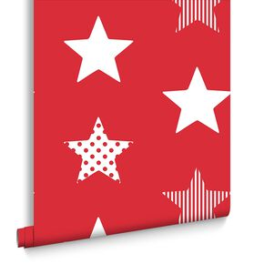 Superstar Red Behang, , large