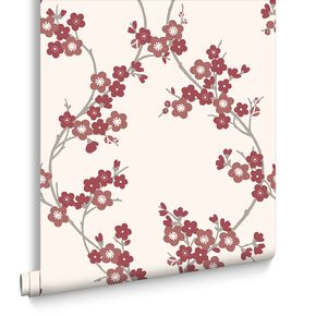 Cherry Blossom Scarlet Wallpaper, , large