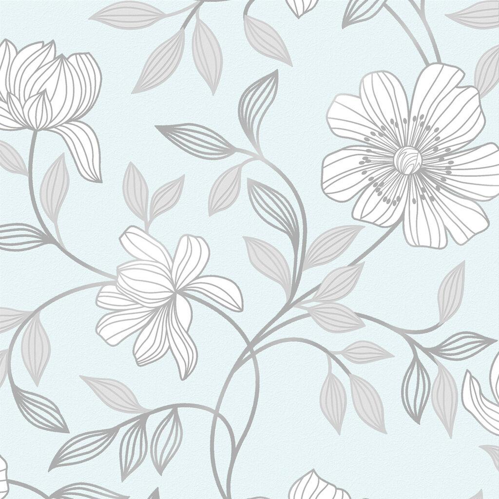 Camille Duck Egg Wallpaper GrahamBrownUS