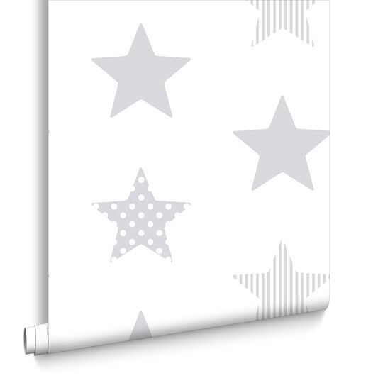 Superstar Silver Wallpaper, , large