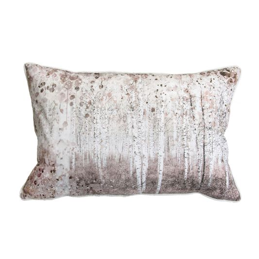 Watercolour Woodland Pillow, , large