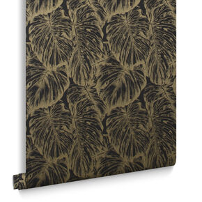 Tropical Charcoal Behang, , large