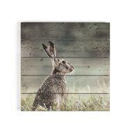 Hare Print On Wood, , large