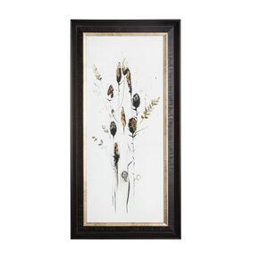 Bloom Seed Head Metallic Framed Art, , large