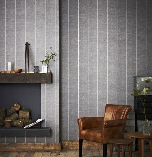 Prairie Charcoal Wallpaper, , large