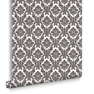 Damask BlackandWhite Wallpaper, , large