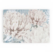 Teal Bloom Printed Canvas, , large