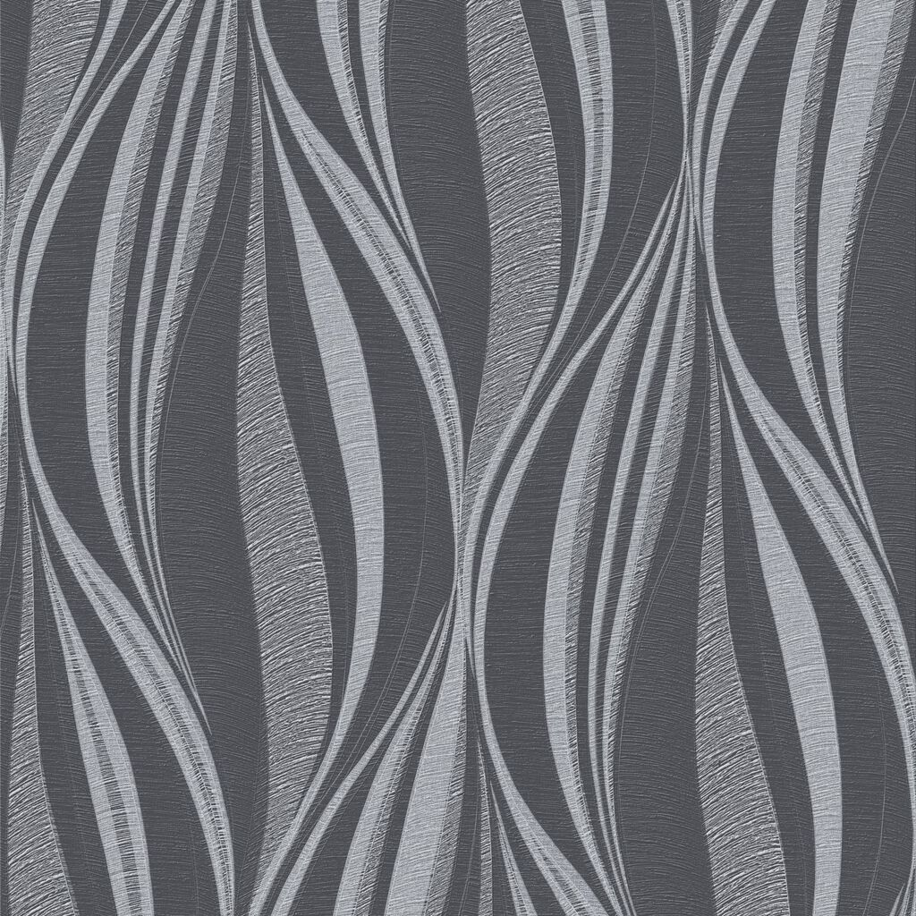 Tango charcoal and silver wallpaper graham brown for Silver 3d wallpaper