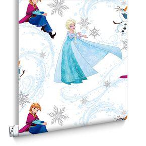 Frozen Anna, Elsa and Olaf Blue Shimmer Wallpaper, , large
