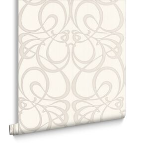 Jazz White and Silver Wallpaper, , large