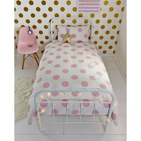 Pink Dotty Duvet, , large