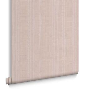 Laddered Stripe Taupe Wallpaper, , large
