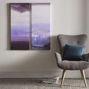 Serene Blue Haze Printed Canvas, , large
