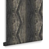 Vermeil Stripe Charcoal Wallpaper, , large