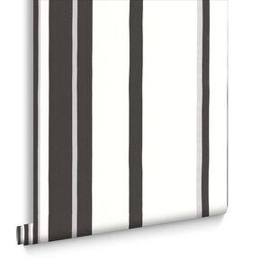 Hoppen Streifen Schwarz und Weiß und Silber, , large