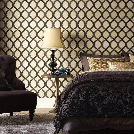 Gold Wallpaper Canada: Highbury Black And Gold Wallpaper