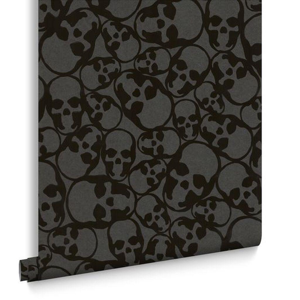 Skull Wallpaper For Bedroom Skulls Black Wallpaper Graham Brown