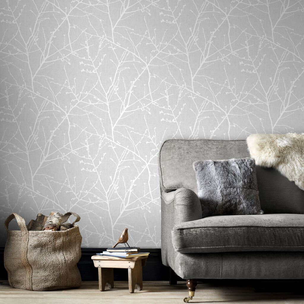 Innocence Grey Wallpaper Grey Pattern Wallpaper Graham