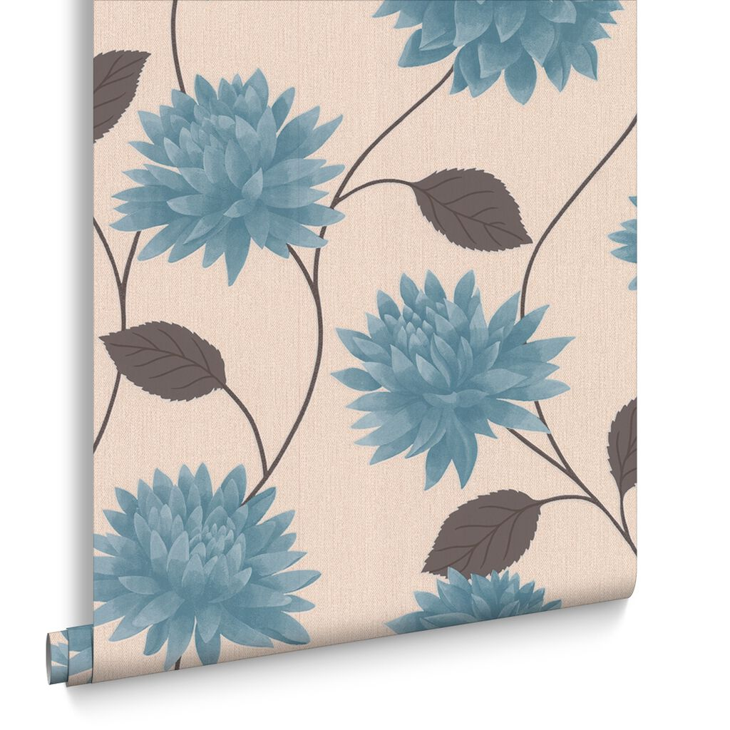 romance teal wallpaper graham brown. Black Bedroom Furniture Sets. Home Design Ideas