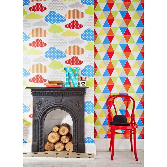 Marshmallow Brights Wallpaper, , large