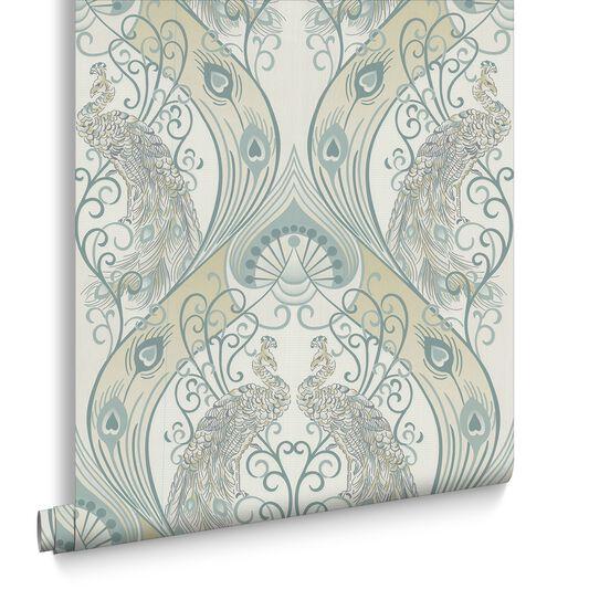 Pendleton Green Wallpaper, , large