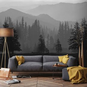 Misty Mountains Mural, , large