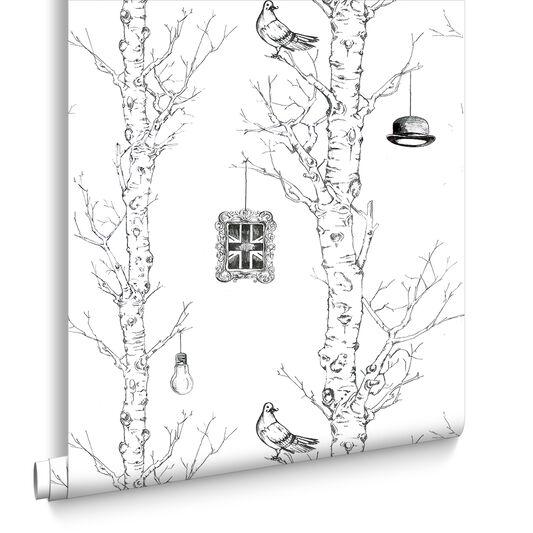 Eccentric Black and White Wallpaper, , large